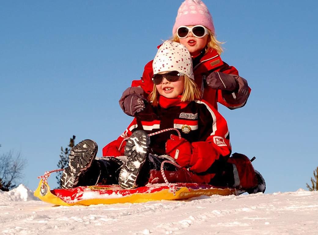 Sledding-Girls-Snow-Winter-Children-Sweden-Sled-104689